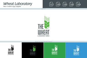 The Wheat Laboratory Logo Template