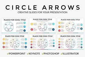 Circle Arrows PPT KEY PSD AI EPS