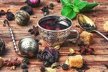 Tea and kitchen herbs