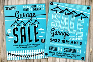 Garage Sale Flyer Poster(3)