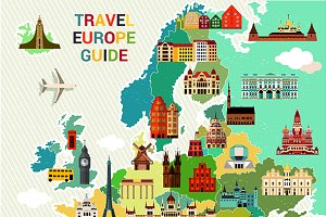 Europe Travel Map.