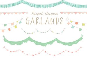 Hand-Drawn Garland Clip Art