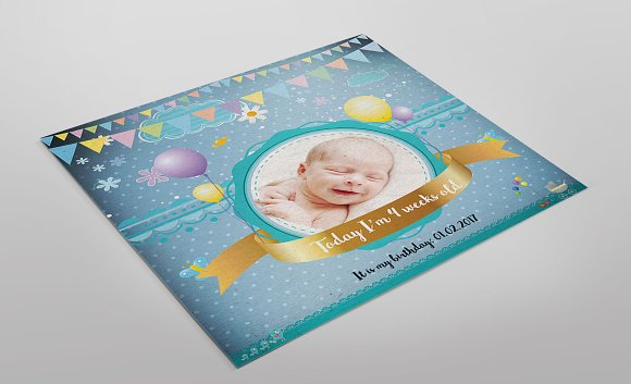 Baby Mini Birthday Session Cards