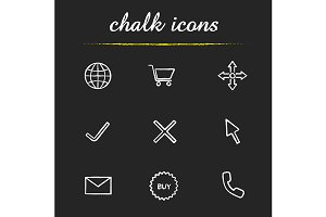 Online shopping. 9 icons. Vector