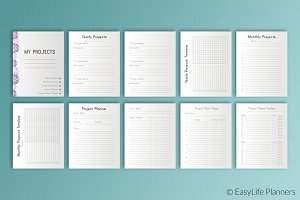 "Project Planner 7"" x 9"" Printable"