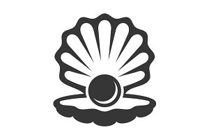 Black Pearl in Shell Icon