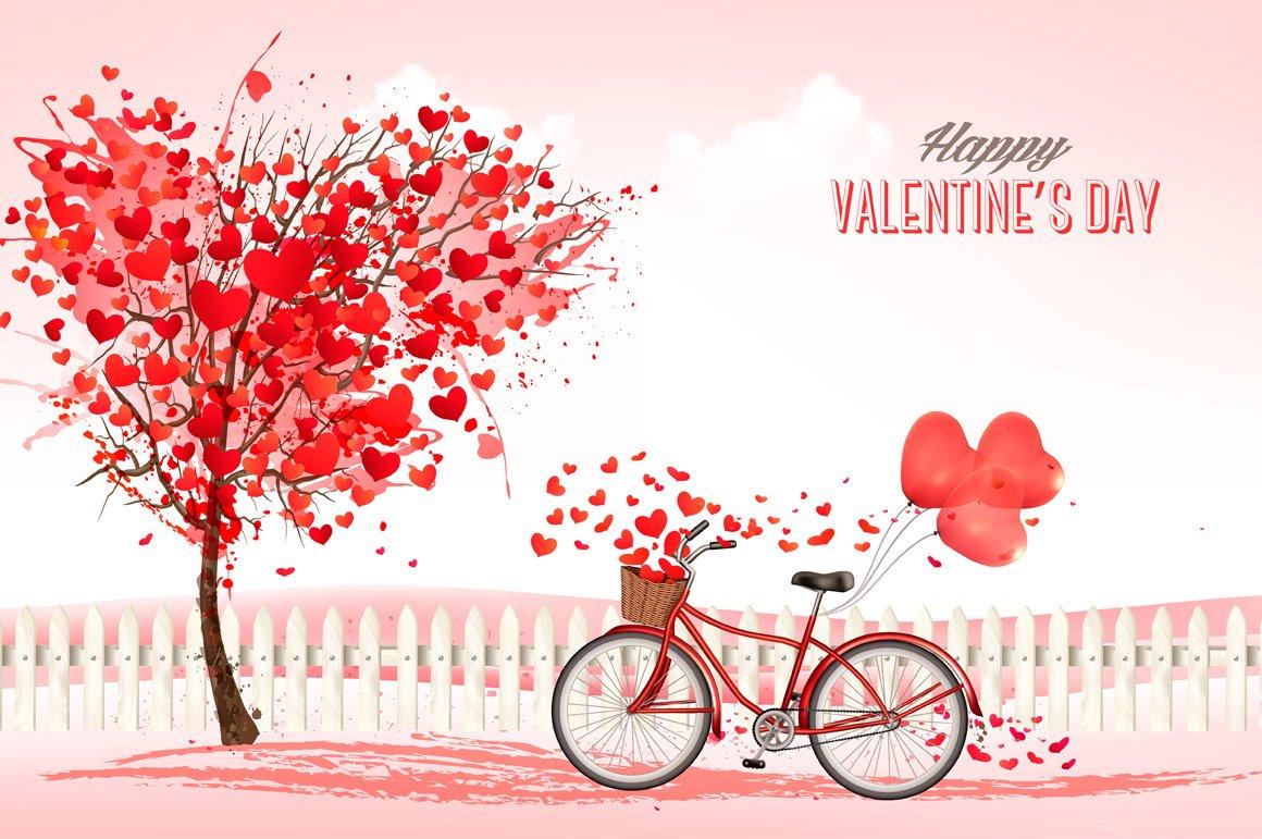 valentine 39 s day background illustrations creative market. Black Bedroom Furniture Sets. Home Design Ideas