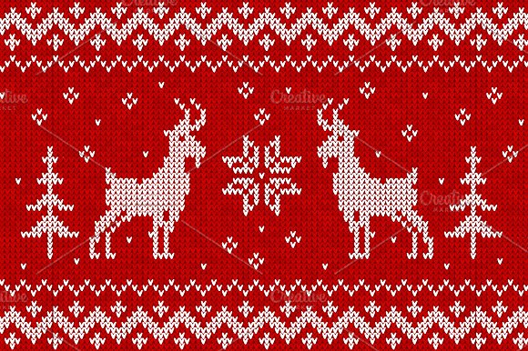 Knit with goats :) seamless pattern in Patterns - product preview 1