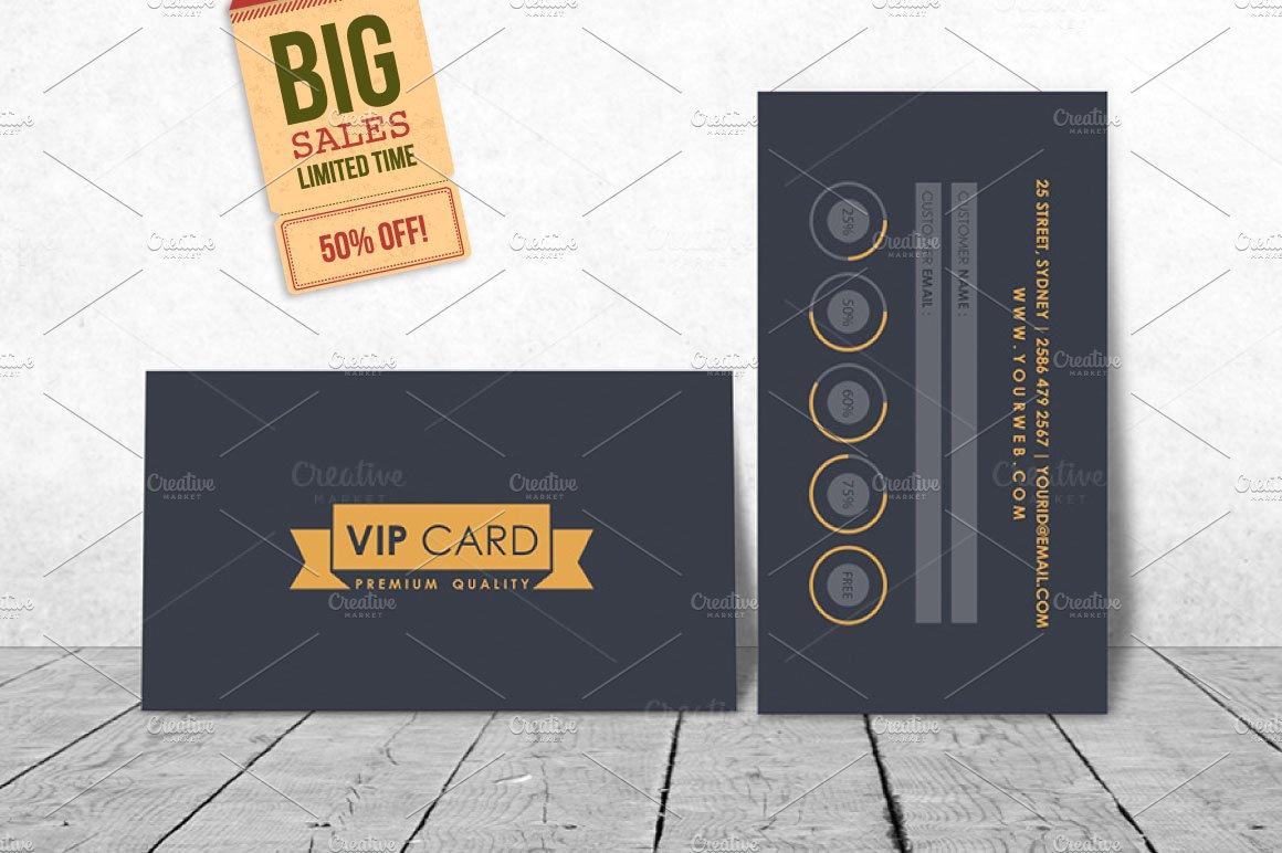 Viployalty card template invitation templates creative market maxwellsz