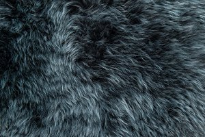 Sheep fur Grey sheepskin rug