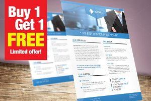 1+1(Free) Corporate Flyer Template