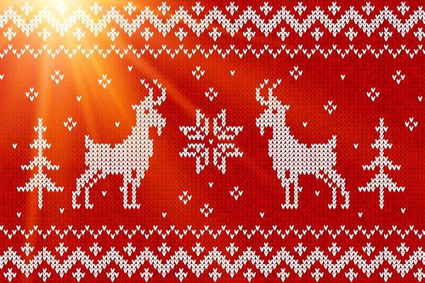 Knit with goats :) seamless pattern