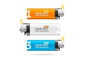 Lighter Menu Infographic Banner