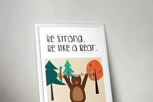 "Poster ""Be like a bear"""