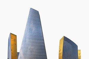 Skyscraper Gold Glass