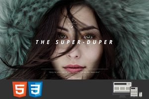 Super-Duper HTML One Page Template