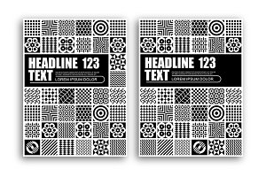 B&W Abstract Pattern Template Design
