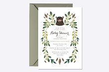Bear Cub Baby Shower Invite