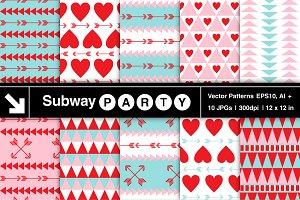 Vector Tribal Valentine Patterns