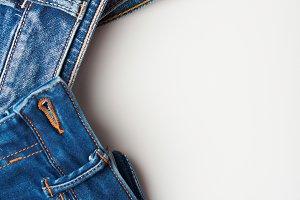 Blue jeans frame
