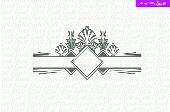 art deco wedding logo logo templates creative market