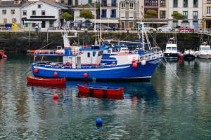 fishing boat in Luarca, Asturias