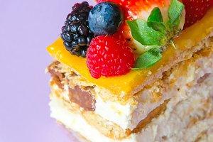 Detail on fruits cake