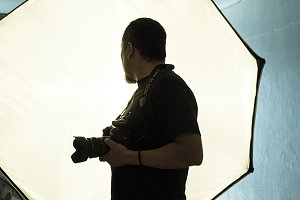 Photographer's silhouette