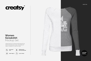 Women Sweatshirt Mockup Set