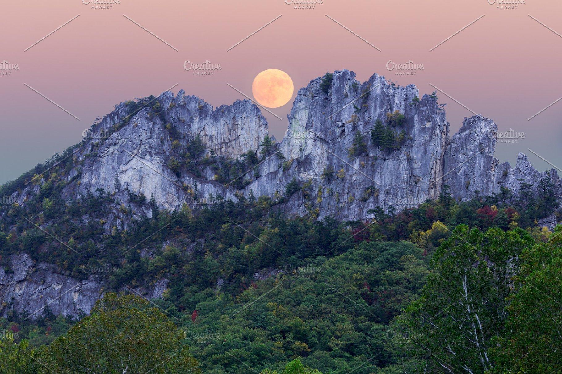 Seneca Rocks Wv >> Supermoon Over Seneca Rocks In West Virginia Nature Photos