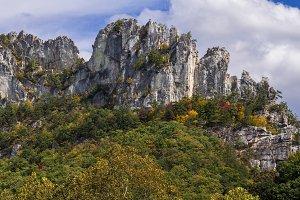 Seneca Rocks in West Virginia