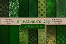 St. Patricks Day digital paper