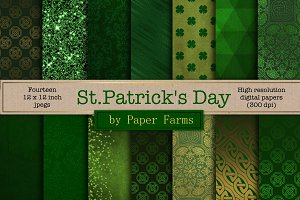 St. Patricks Day digital paper