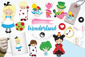Alice in wonderland illustration pac