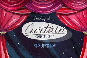 Watercolor curtain constructor