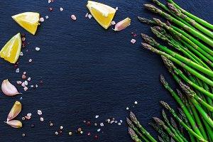 Organic fresh asparagus