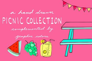 Hand Drawn Picnic Illustrations