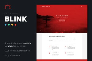 BLINK: HTML Portfolio (50% off)