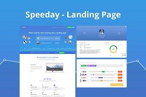 Speeday - Landing Page PSD Template