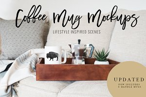 Coffee Mug Mockup Stock Photo Bundle