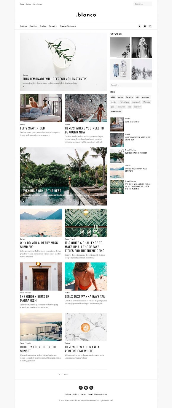 Blanco - Creative Blog Theme