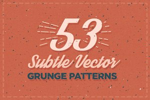 53 Subtle Vector Grunge Patterns