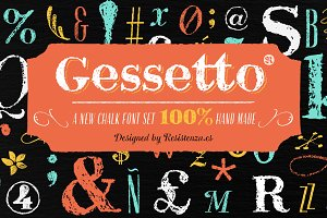 Gessetto Family (9 fonts) 60% off