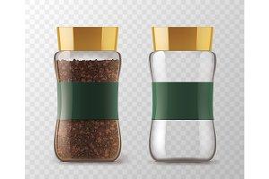 Instant coffee glass jar models