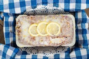 Blueberry lemon loaf bread