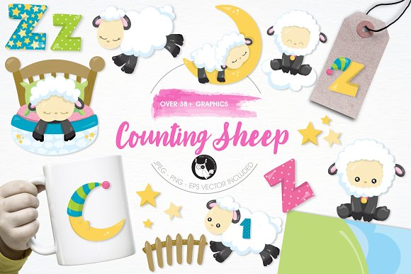 Counting Sheep Illustration Pack