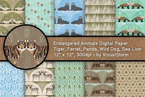Endangered Wild Animal Patterns