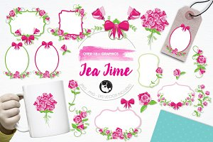 Tea time illustration pack
