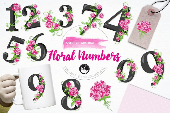 Floral Numbers Illustration Pack