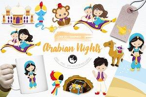 Arabian nights illustration pack